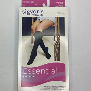 SIGVARIS WOMEN ESSENTIAL COTTON SOCKS NEW